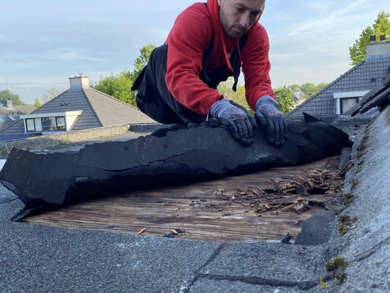 Houtrot herstellen aan platte dakconstructies - dakdekker