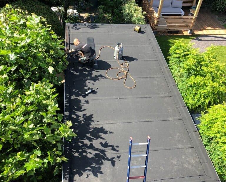 dakbedekking platte daken